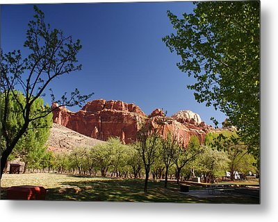 Capitol Reef Evening Metal Print by Michael J Bauer