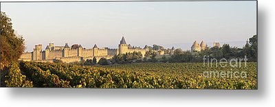 Carcassonne Languedoc Roussillon France Metal Print by Colin and Linda McKie