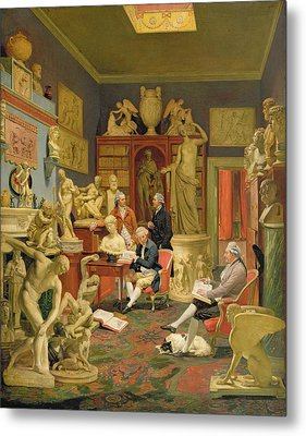 Charles Townley And His Friends Metal Print by Johann Zoffany