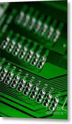 Circuit Board Bokeh Metal Print by Amy Cicconi