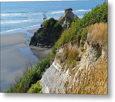Metal Print featuring the photograph Coastal Strata by Gayle Swigart