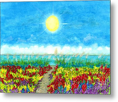 Color Path Metal Print by Tina Zachary