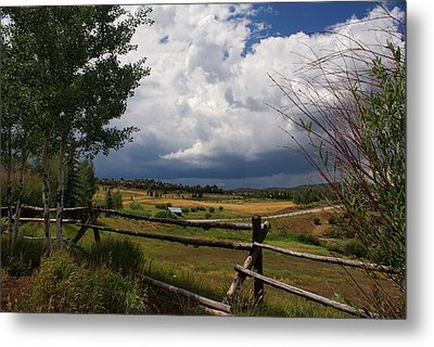 Colorado Ranch Metal Print by Michael J Bauer