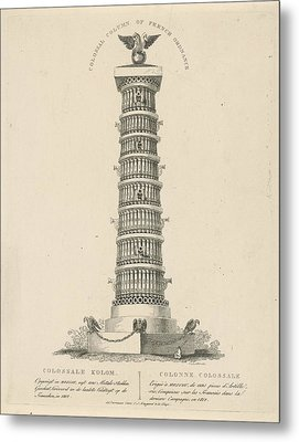 Column In Moscow Russia, Christian Anthony Lotter Metal Print by Quint Lox