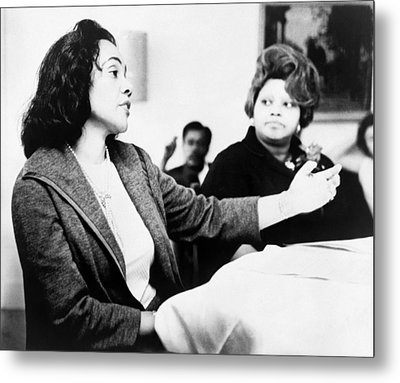Metal Print featuring the photograph Coretta Scott King (1927-2006) by Granger