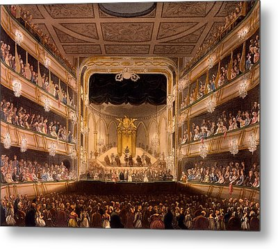 Covent Garden Theater Metal Print by Pugin and Rowlandson