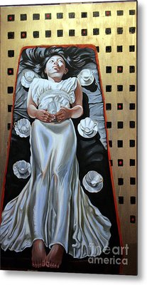 Cups Metal Print by Shelley Laffal
