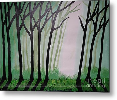 Day Light In Dark Forest Metal Print by Jnana Finearts