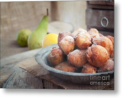 Deep Fried Fritters Donuts Metal Print by Mythja  Photography