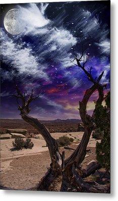 Metal Print featuring the digital art Desert Tree by Bruce Rolff