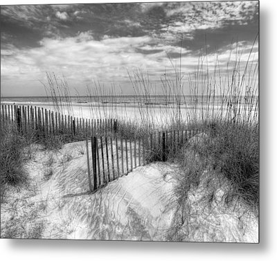 Dune Fences Metal Print