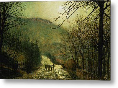 Forge Valley Metal Print by John Atkinson Grimshaw