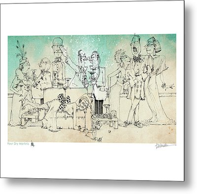 Four Dry Martinis Metal Print by Dennis Wunsch