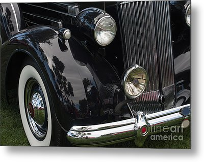 Metal Print featuring the photograph Front Side Of A Classic Car by Gunter Nezhoda