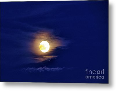 Full Moon With Clouds Metal Print by Thomas R Fletcher