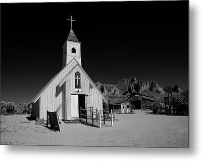 Ghost Town Church Metal Print by Wendell Thompson