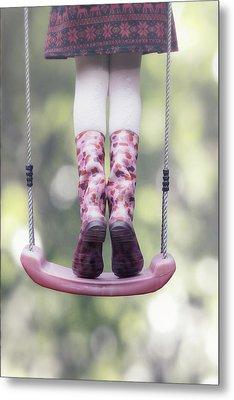 Girl Swinging Metal Print by Joana Kruse