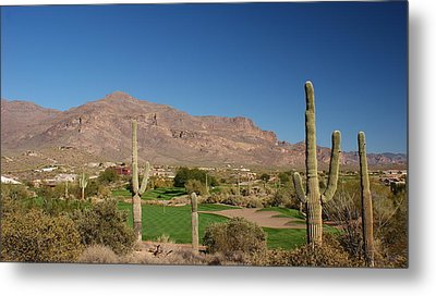 Gold Canyon Arizona Golf Metal Print by Michael J Bauer