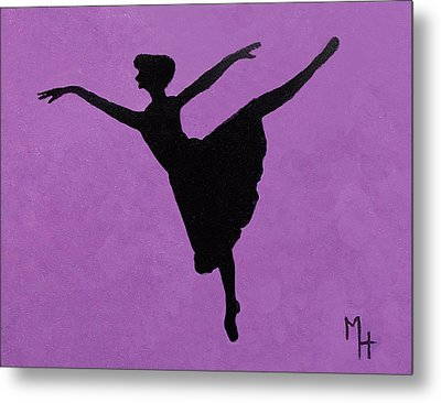 Graceful Arabesque Metal Print