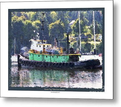 Metal Print featuring the photograph Green Tug by Kenneth De Tore