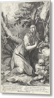 H Penitent Mary Magdalene Metal Print