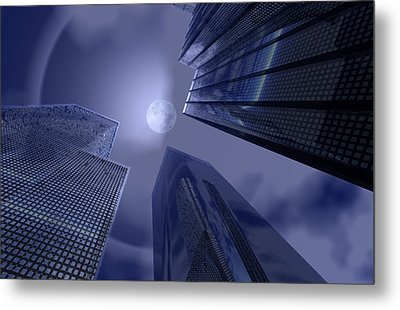 Halo On Tower 202 Metal Print by A Dx