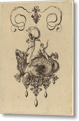 Hans Collaert Flemish, 1566 - 1628, Jewelry Design Metal Print by Quint Lox