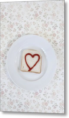 Hearty Toast Metal Print by Joana Kruse
