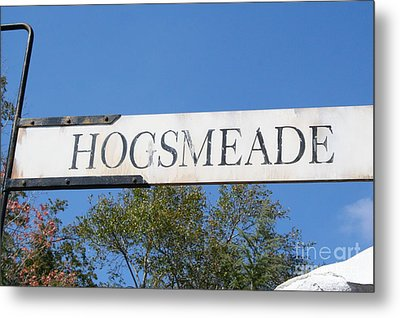 Hogsmeade Sign Metal Print by Shelley Overton