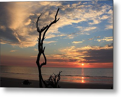 Hunting Island Sunrise Metal Print by Mountains to the Sea Photo