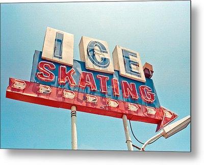 Ice Skating Metal Print by Matthew Bamberg