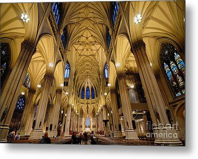 Inside St Patricks Cathedral New York City Metal Print by Amy Cicconi