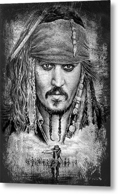 Johnny Depp Metal Print by Andrew Read