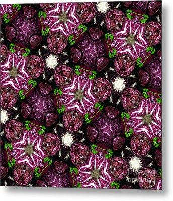 Kaleidoscope Raddichio Lettuce Metal Print by Amy Cicconi