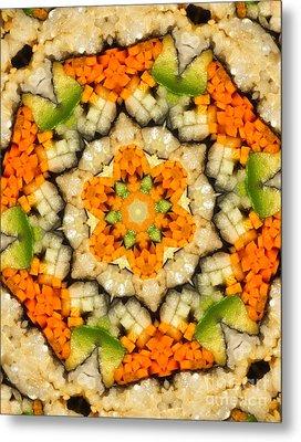 Kaleidoscope Vegetable Sushi Metal Print by Amy Cicconi