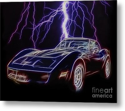 Lightning Fast Metal Print by JohnD Smith