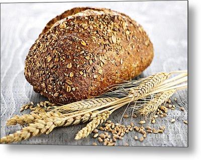 Loaf Of Multigrain Bread Metal Print by Elena Elisseeva