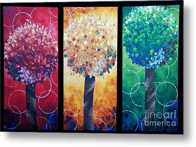 Lollipop Trees Metal Print