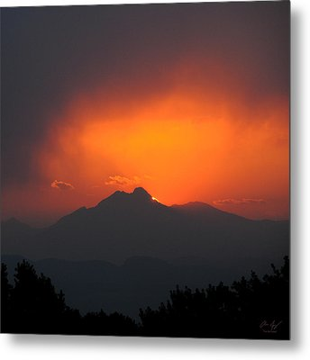 Longs Peak Sunset Metal Print