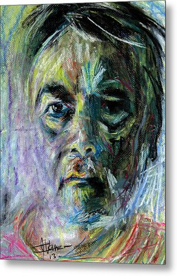 Metal Print featuring the painting Magi Batet - Artist by Jim Vance