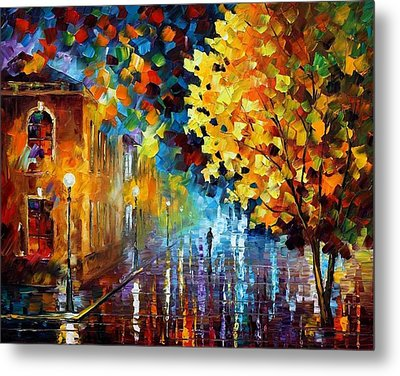 Magic Rain Metal Print by Leonid Afremov