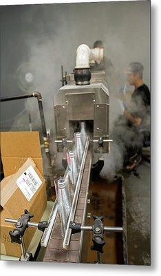 Marijuana Products Factory Metal Print by Jim West