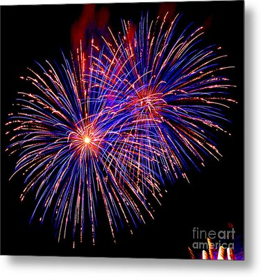 Most Spectacular Fireworks Selection - Worldwide Championship - Montreal Metal Print by Emma Lambert