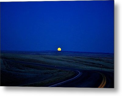 Native Moon Metal Print