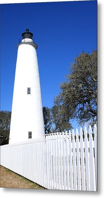 Ocracoke Lighthouse North Carolina Metal Print by Mountains to the Sea Photo