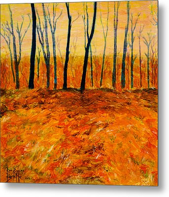 October Metal Print by Ron Richard Baviello