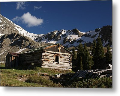 Old Cabin In Rocky Mountains Metal Print by Michael J Bauer