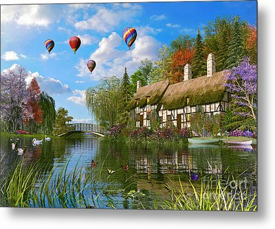Old River Cottage Metal Print by Dominic Davison