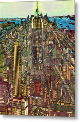 New York Mid Manhattan 71 Metal Print by Art America Gallery Peter Potter