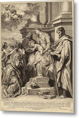 Paulus Pontius, After Sir Anthony Van Dyck Flemish Metal Print by Quint Lox